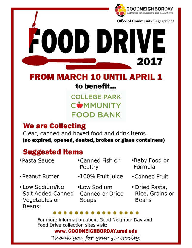 food drive 2017 poster