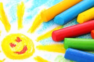 multi color crayons