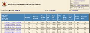 Pay Period Summary