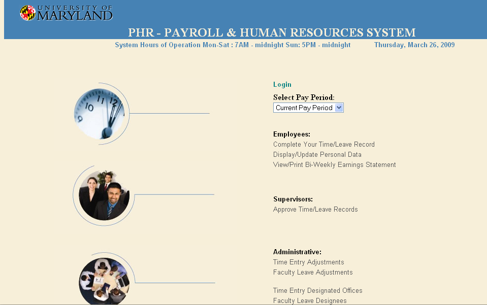 University Human Resources   Accessing a Time Record