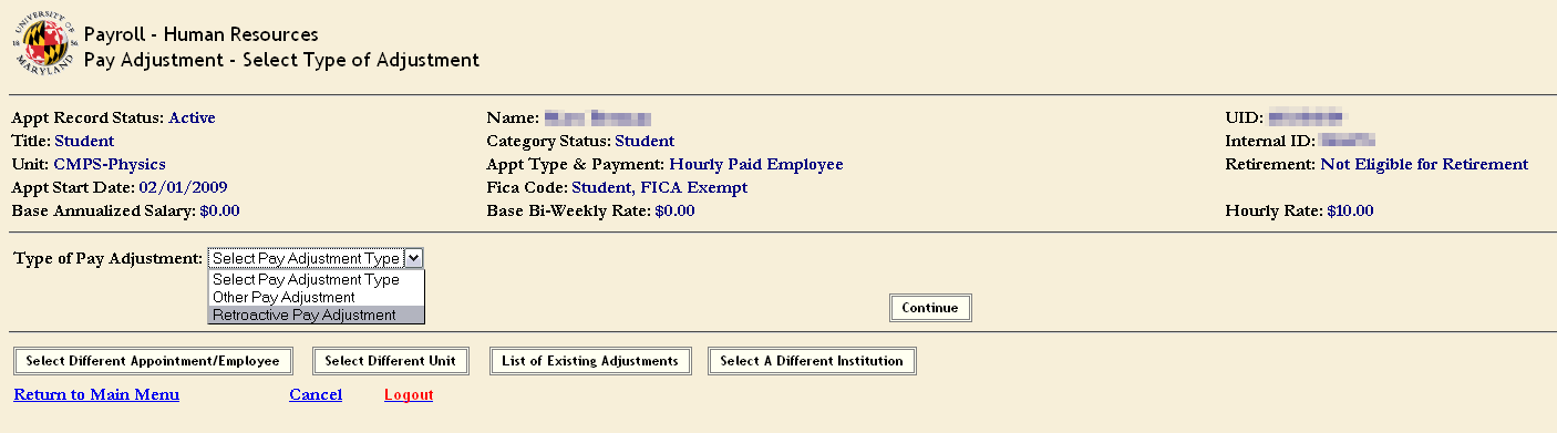 University Human Resources   Unapproved Hourly Time Record