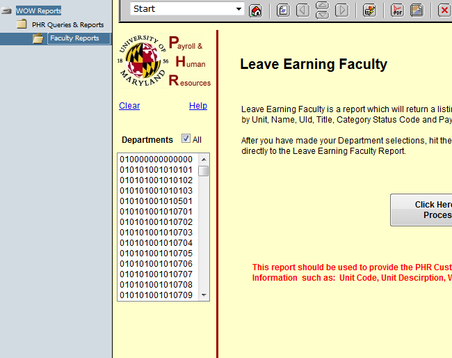 Leave earning faculty