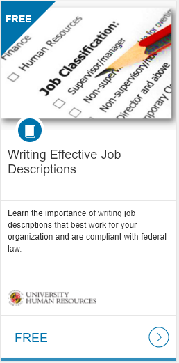writing effective position description course link